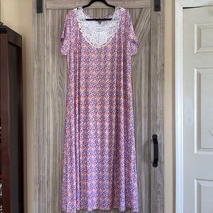 Jessica London 16 P Soft & Stretchy Maxi Dress